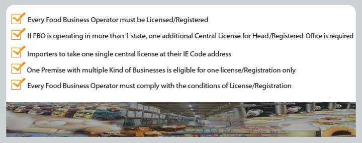 Information about Food licencing